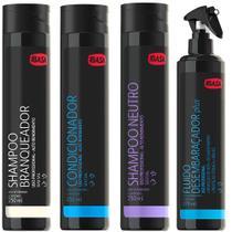 Combo Ibasa Shampoo Pelos Claros + Condicionador + Shampoo Neutro + Desembaraçador -