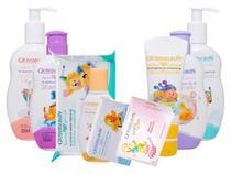Combo Infantil Giovanna Baby Giby Com shamp cond talco colonia sabonete hidratante lenco umedecido -