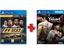 Combo Jogo F1 2017 PS4 + Jogo Yakuza 6: The Song Of Life  PS4 - Codemasters