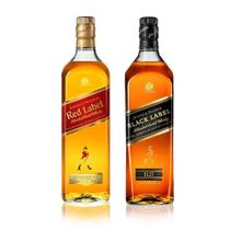 Combo Johnnie Walker Black & Red Label 1000ml