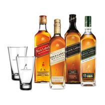 Combo Keep Walking (Red Label 750ml + Back Label 750ml + Gold Label 750ML + Green Label + 2 Highballs) - Johnnie walker