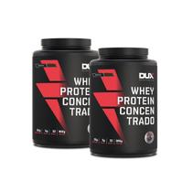 Combo Kit 2x Whey Protein Concentrado Pote 900g Dux Nutrition -