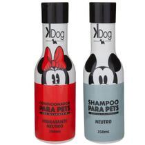 Combo Kit banho cachorro e Gatos: Shampoo e Condicionador Neutro KDog Disney -