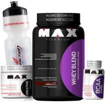 Combo Kit de Suplementos Whey proten Blend + Bcaa + Creatina Max wey - Max Titanium