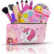 Combo Kit Infantil De Maquiagem Completo + Necessaire Bz103 - Bazar Web