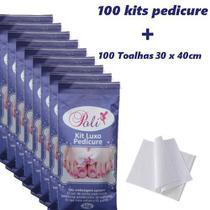 Combo kit Pedicure  + toalhas descartável  100 unidades - Poli-Descartáveis