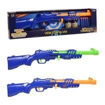 Combo Lançador Espingarda Tipo Nerf com Alvo + 30 dardos - Unik Toys