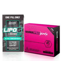Combo: Lipo 6 Black Hers Ultra Concentrado + SomaPro Woman - Monster suplementos