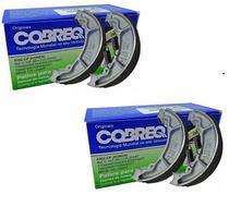 Combo Lona Patim Freio Cobreq Honda Cg Titan Fan 125 150 160 Cbx 250 Cb 300 Lead Pcx Dianteiro e Traseiro -