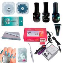 Combo Manicure Unhas Gel C/ Lixadeira Elétrica - Ninna Vibes