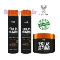 Combo Manutenção Pérolas De Caviar: Shampoo + Condicionador + Máscara - Widi Care
