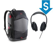 "Combo Mochila Gaming 15,6"" + Headset Dell Performance USB AE2 -"
