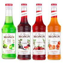 Combo Monin Maça Verde,  Grenadine, Cranberry e Tangerina -