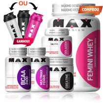 Combo Mulher Completo Fit Woman - Femini Whey - Max Titanium