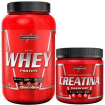 Combo Nutri Whey Protein 907 Pote + Creatina 300g - Integral Medica (Baunilha) - Integralmédica