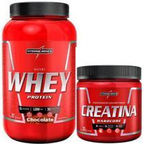 Combo Nutri Whey Protein 907 Pote + Creatina 300g - Integral Medica (Chocolate) - Integralmédica