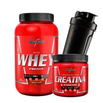 Combo Nutri Whey Protein 907g Pote + Creatina 300g + Coq - Integral Médica