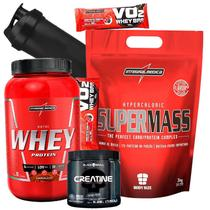 Combo Nutri Whey/wey/way + Super Massa 3Kg + Creatina - Envio em 24h