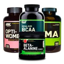 Combo Opti-Women 120 + Bcaa 400  + ZMA 180 + Beta-Alanine ON - Optimum nutrition