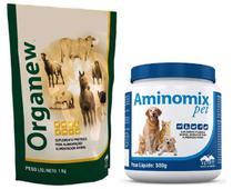 Combo Organew 1kg Probiótico + Aminomix Pet Pó 500g Vetnil -
