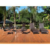 Combo piscina jogo de mesa e espreguiçadeira -área de lazer, para mesa, varanda, alumínio - Click Moveis Artesanais