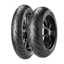 Combo Pneu Moto Pirelli Diablo Rosso 2 110/70-17 + 140/60-17 -