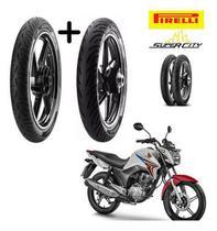 Combo Pneus Honda Cg 150 Titan Dianteiro +tras Pirelli S/cam -