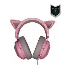 Combo Razer Kraken Pro V2 Quartz + Kitty Ears - Pc Ps4 Xone -