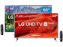 """Combo Smart TV 4K LED 65"""" LG C2 65SM8600PSA - Wi-Fi e Smart TV 4K LED 50"""""""