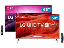 "Combo Smart TV 4K LG 65"" NanoCell Wi-Fi - Inteligência Artificial e Smart TV LED 50"""