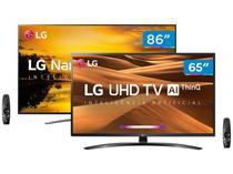 """Combo Smart TV 4K NanoCell 86"""" LG 86SM9070PSA - Wi-Fi e Smart TV 4K LED IPS 65"""""""