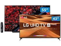"""Combo Smart TV 4K OLED 55"""" LG OLED55C9PSA Wi-Fi - HDR Inteligência Artificial e Smart TV 4K LED 43"""""""