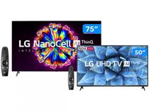 "Combo Smart TV 8K NanoCell IPS 75"" LG 75NANO95SNA - Wi-Fi Bluetooth + Smart TV UHD 4K LED 50"""