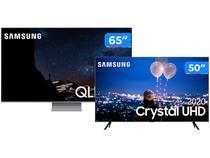 "Combo Smart TV 8K QLED 65"" Samsung 65Q800TA - Wi-Fi Bluetooth + Smart TV Crystal UHD 4K LED 50"""