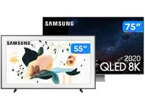 "Combo Smart TV 8K QLED 75"" Samsung 75Q800TA - Wi-Fi Bluetooth HDR 4 HDMI 2 USB + Smart TV 55"""