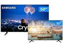 "Combo Smart TV Crystal UHD 4K LED 50"" Samsung - 50TU8000 Wi-Fi + Smart TV HD D-LED 32"" Philco"