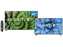 """Combo Smart TV UHD 4K LED 82"""" LG 82UN8000PSB - Wi-Fi + Smart TV UHD 4K LED 50"""" Wi-Fi Bluetooth"""