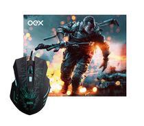 Combo Stage Mouse e Mousepad Oex Led 7 Cores 2400DPI - MC101 -