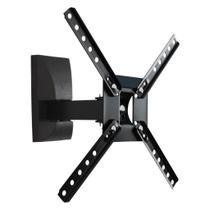"Combo suporte tv lcd/led/plasma 10"" a 55"" biarticulado + suporte dvd tv simples preto - INATIVO"