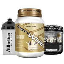 Combo Tasty Whey 2 LB Cookies + Creatine 400g + Bottle - K-fit