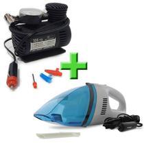 Combo TechOne - Aspirador de Pó B-2725 e Compressor Portátil 12V B-2728 - Kit TechOne Aspirador e Compressor -