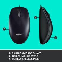 Combo Teclado E Mouse Logitech Óptico Com Fio Usb Mk120 -