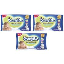combo Toalhas umedecidas mamypoko ideal para higiene diária do seu bebê toque suave 3x50 unidad - Daviso