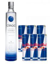 Combo Vodka Ciroc + Red Bull - Campari Do Brasil