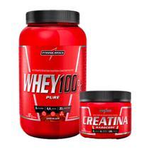 Combo Whey 100% Pure Pote - Chocolate - Pote 907g + Creatina 150g - Integral Medica - Integralmédica