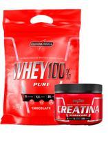 Combo Whey 100% Pure Refil 907g Chocolate + Creatina 150g Integral Medica - Integralmédica