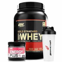 Combo Whey Gold Standard 2LB Energy Plus Melancia + Shaker Optimum Nutrition