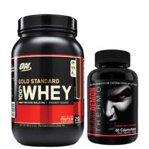 Combo Whey Gold Standard 909G Optimum Chocolate + Black Demon Intlab