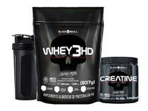 Combo Whey Protein + Creatina + Brinde - Black Skull -