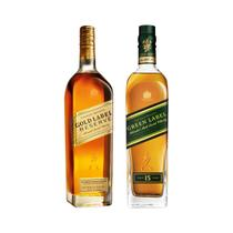 Combo Whisky Johnnie Walker Green Label e Gold Label Reserve 750ml
